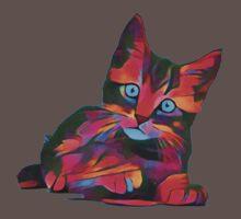 Cute Rainbow Kitten One Piece - Short Sleeve