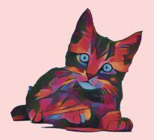 Cute Rainbow Kitten Kids Tee