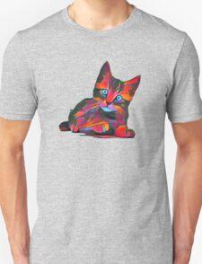 Cute Rainbow Kitten Unisex T-Shirt