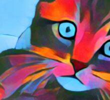 Cute Rainbow Kitten Sticker