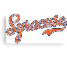 Syracuse Script Orange VINTAGE Canvas Print