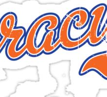 Syracuse Script Orange VINTAGE Sticker