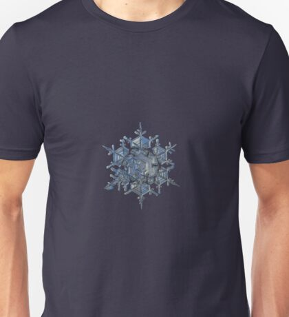 Crystal of chaos and order, real snowflake photo Unisex T-Shirt