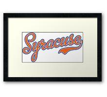Syracuse Script Orange  Framed Print