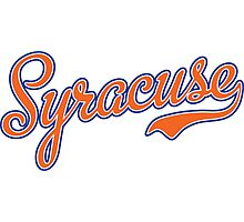 Syracuse Script Orange  Photographic Print
