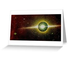 Deep Space Sparks Greeting Card
