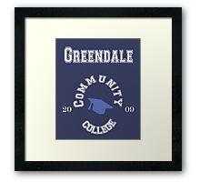 Commuinity- Greendale College Framed Print