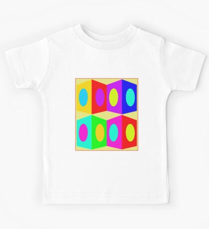 """PSYCHEDELIC BLOCKS"" 3D Whimsical Print Kids Tee"
