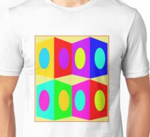 """""""PSYCHEDELIC BLOCKS"""" 3D Whimsical Print Unisex T-Shirt"""