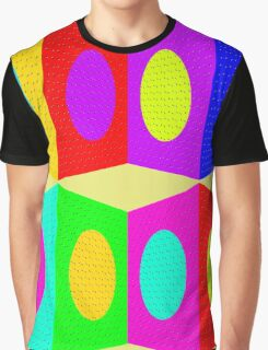 """PSYCHEDELIC BLOCKS"" 3D Whimsical Print Graphic T-Shirt"