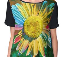 Rainbow Daisy Flower Chiffon Top
