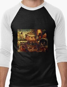 An Insight Into Hell 2 by Hieronymus Bosch Men's Baseball ¾ T-Shirt