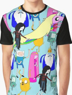 Adventure time character print Graphic T-Shirt