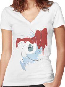 Fluff Bond Women's Fitted V-Neck T-Shirt