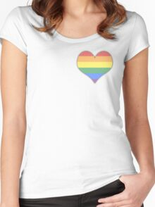 LGBT  Pride (Pastel) Women's Fitted Scoop T-Shirt