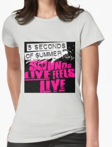 5 second summer music tour Womens Fitted T-Shirt
