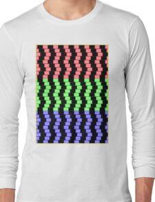 """ABSTRACT 3D BLOCKS"" Psychedelic Print Long Sleeve T-Shirt"