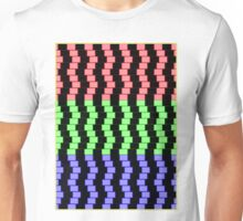 """""""ABSTRACT 3D BLOCKS"""" Psychedelic Print Unisex T-Shirt"""