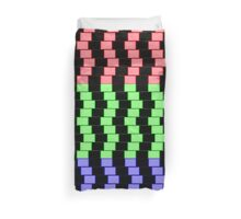 """""""ABSTRACT 3D BLOCKS"""" Psychedelic Print Duvet Cover"""