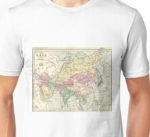 Vintage Map of Asia (1872) Unisex T-Shirt