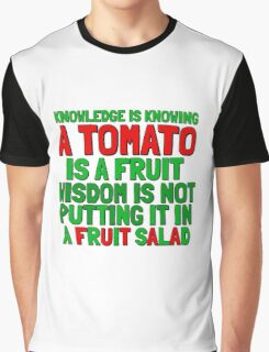 Food Humor Funny Tomato Cute Random Quote Graphic T-Shirt