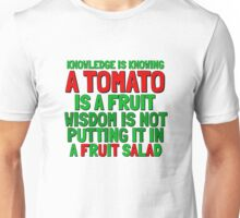 Food Humor Funny Tomato Cute Random Quote Unisex T-Shirt