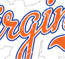 Virginia Script Orange VINTAGE Sticker