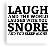 Laugh Snore Funny Oldboy Pun Random Humor Cool Canvas Print