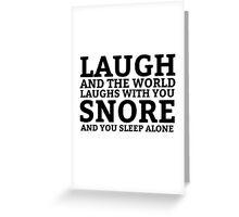 Laugh Snore Funny Oldboy Pun Random Humor Cool Greeting Card