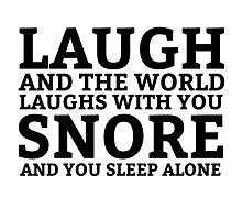 Laugh Snore Funny Oldboy Pun Random Humor Cool Photographic Print