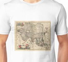 Vintage Map of Asia (1689) Unisex T-Shirt