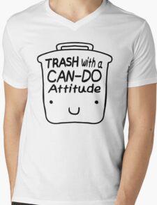 Trash with a CAN-DO Attitude (Black) Mens V-Neck T-Shirt