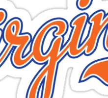 Virginia Script Orange  Sticker