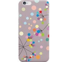 grey/abstract/flowers iPhone Case/Skin