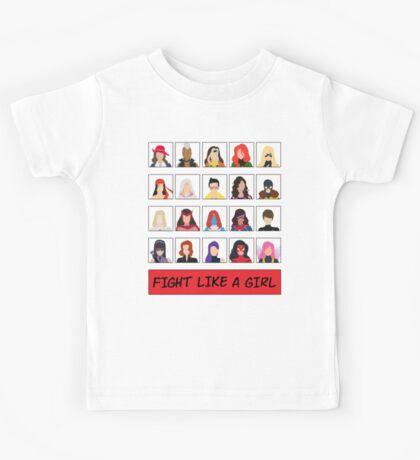 Fight Like A (Marvel) Girl. Kids Tee
