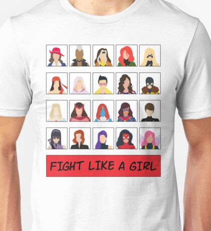 Fight Like A (Marvel) Girl. Unisex T-Shirt