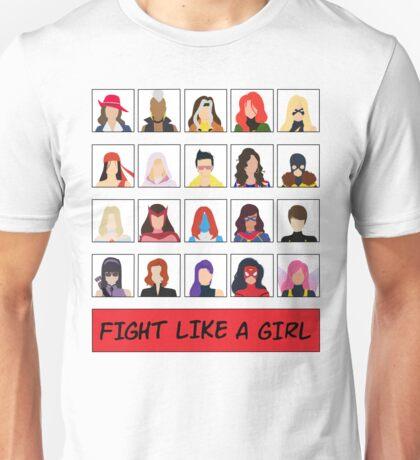 Fight Like A (Marvel) Girl. Unisex T-Shirt