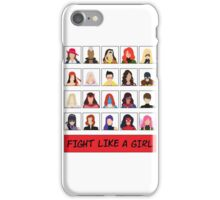 Fight Like A (Marvel) Girl. iPhone Case/Skin