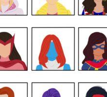 Fight Like A (Marvel) Girl. Sticker