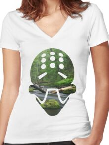 Zenyatta Nature Spray Women's Fitted V-Neck T-Shirt