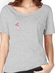 CANDY CANDY RUN light pink with a boarder Women's Relaxed Fit T-Shirt