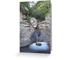 Jewell pool on Parker River Greeting Card