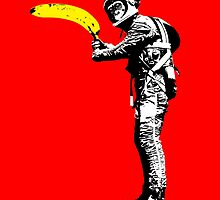 Monkey astronaut with banana by monsterplanet
