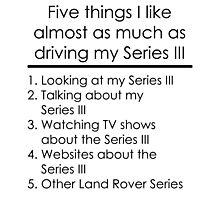 5 Things I Like - Series 3 Photographic Print