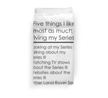 5 Things I Like - Series 3 Duvet Cover