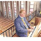 church organist watercolor by Mike Theuer