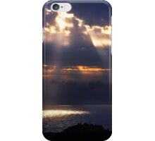 Natural spotlights at the Messenian Gulf iPhone Case/Skin
