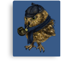 Sherlock // owl Canvas Print