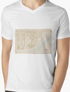 Vintage Atlantic City NJ Map (1896) Mens V-Neck T-Shirt