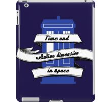 TARDIS (Time and Relative Dimension in Shirts) iPad Case/Skin